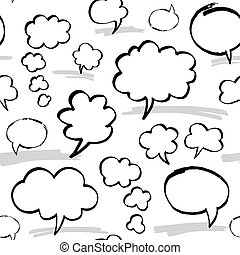 Marker Speech Bubbles Seamless Pattern
