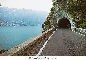 Strada della Forra - tonnel on the unique and famous Strada...