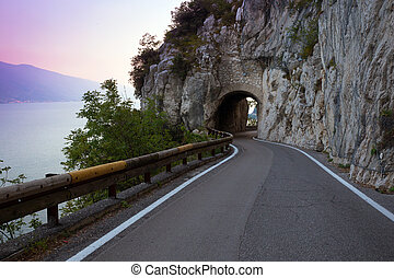 Strada della Forra - tonnel on the unique and famous Strada...