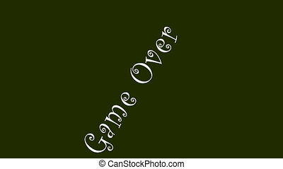Game Over typography animation color motion background HD...