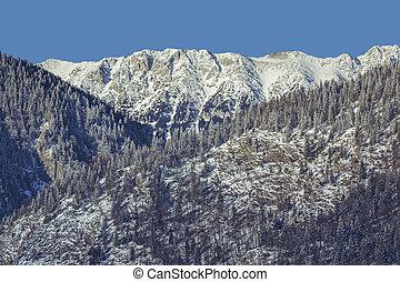 Snowy Piatra Craiului mountains - Serene winter landscape...