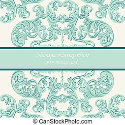 Baroque Vintage Vector Card
