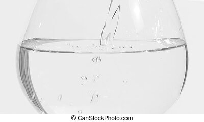 Pour a half filled glass of water full