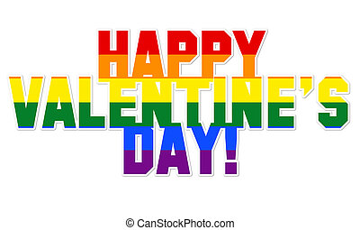 Happy Valentine's day with LGBT colors