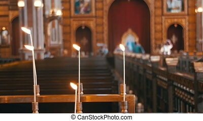 Candle in the Christian Church - EGYPT, SOUTH SINAI, SHARM...