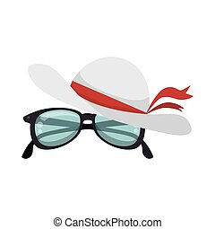 hat female with glasses