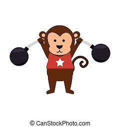 funny monkey circus icon