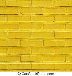 Yellow seamless brick pattern wall