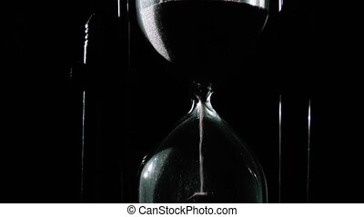 hourglass close up - time lapse - Hourglass close up - Black...