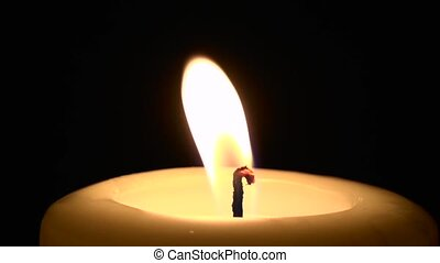 Flickering Single Candle