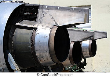 Jet engines - Group of jet airplane engines