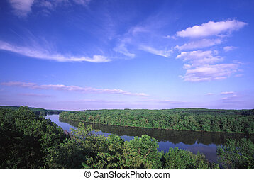 Rock River Valley - Illinois - Sweeping view of the Rock...