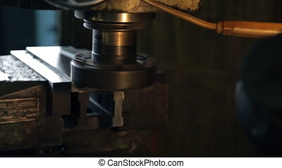 Finish of grinding of horizontal surface of detail on mill...