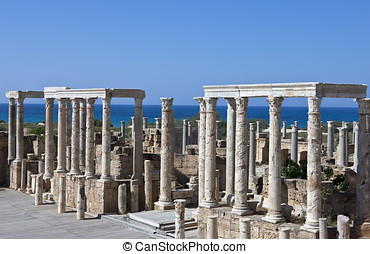 Libya,archaeological site of Leptis Magna,the theatre