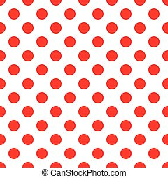 Red polka dot on white