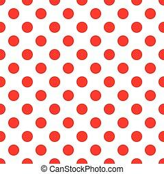 Red polka dot on white