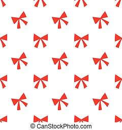 Seamless red ribbon pattern on white