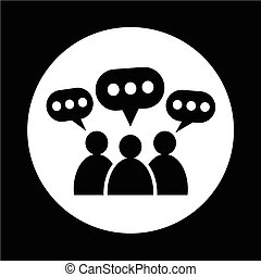 People Speech Bubble Icon