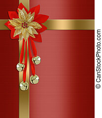 Christmas border red present - Image and illustration...