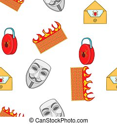 Cyber crime pattern, cartoon style - Cyber crime pattern....