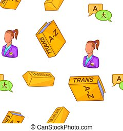 Foreign language pattern, cartoon style - Foreign language...