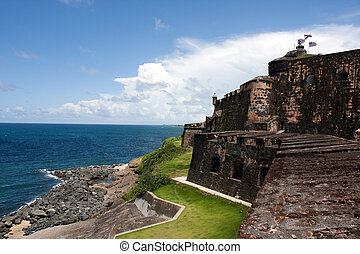 El Morro Fort - El Morro fort located in Old San Juan Puerto...