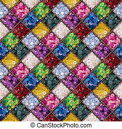Colourful buttons seamless pattern - A seamless pattern of...