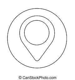 mapping pin icon