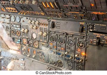 dentro,  avionics, avión, tablero de instrumentos