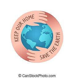 save the world logo