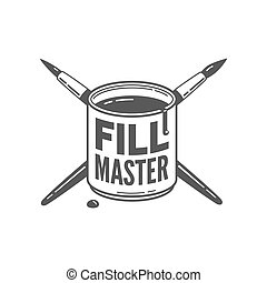 fill master - black paint with crossed brushes. fill master...