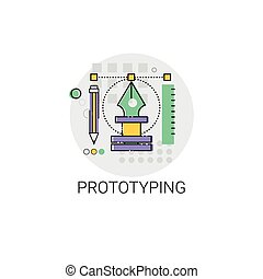 Prototyping Innovation Building Creation Icon Vector...
