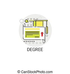 Degree Online Learning Distance Education Icon Vector...