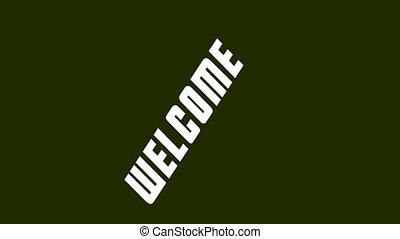 Invitation inscription Welcome in retro style animation HD...