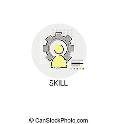 Business Skills Competence Achievement Icon Vector...