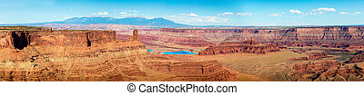 Dead Horse State Park - Panorama of landscape of Dead Horse...