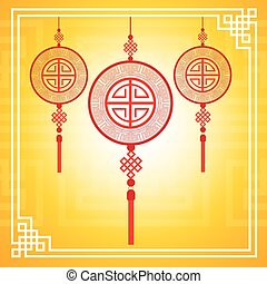 Chinese Traditional Abstract Background Colorful Ornament Banner