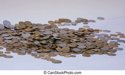 Pots of money - A man with two credit cards collects a lot...