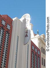 Facade of building under the sun