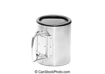 Thermo mug, isolate on a white background