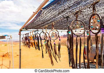 Souvenir shop in a monument valley in USA.