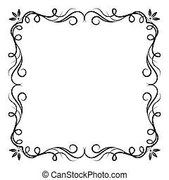 Vintage swirl frame.