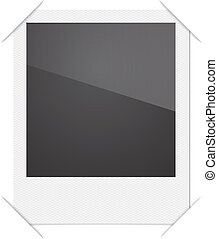 Retro Photo Frame Polaroid On White Background. Vector...