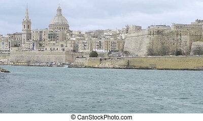 View toward the historic city of Valletta, Malta