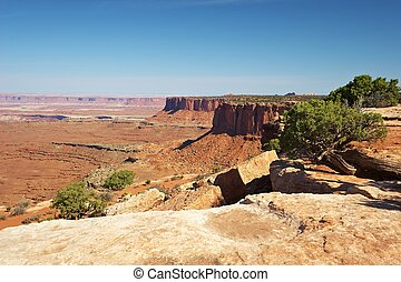 Canyonlands - Red Desert, Canyonlands National Park, Utah,...