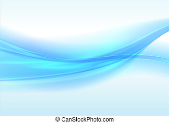 Abstract blue background, wavy  illustration