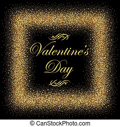 postcard with gold text for Valentine s Day