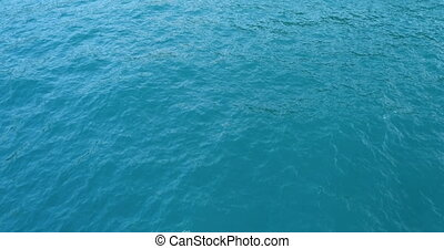 Aerial view of water surface by drone - Aerial view of sea...