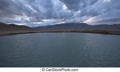 Hot Springs Nevada Ruby Valley after Sunset - Nevada Hot...