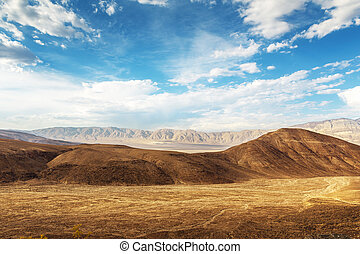 Dry soil and sandstons, Death Valley National Park - Dry...